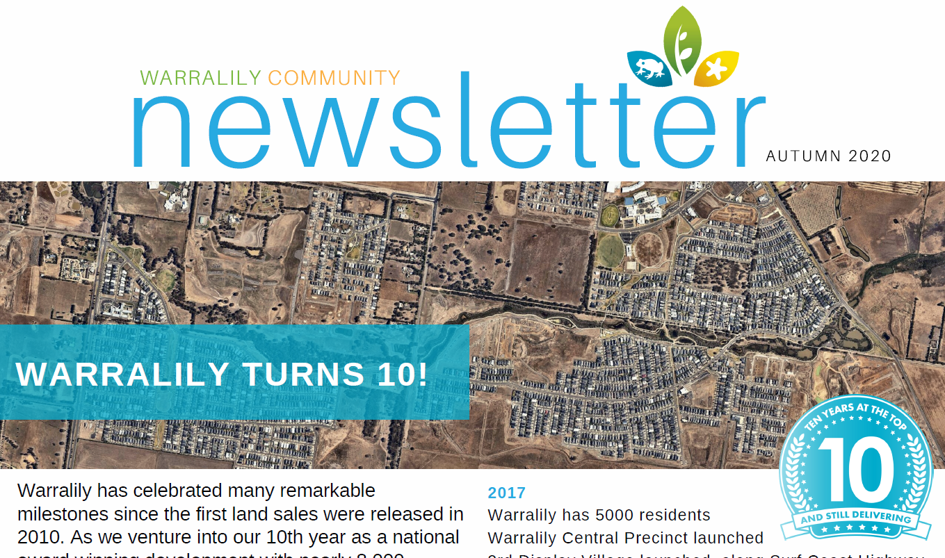 Community Newsletter Autumn 2020 image