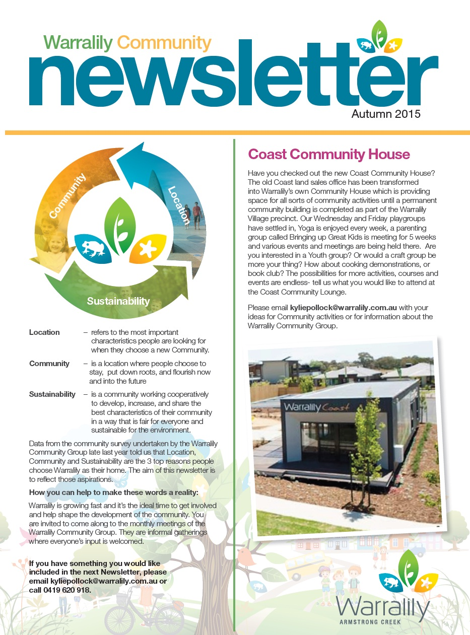 Community Newletter Autumn 2015 image